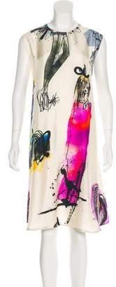 Giles Printed Midi Dress