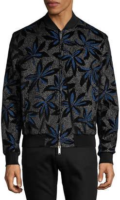 DSQUARED2 Floral Velvet Bomber Jacket