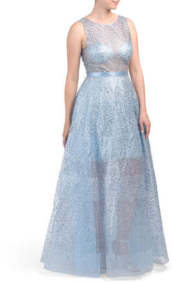 Sparkle Illusion Organza Gown