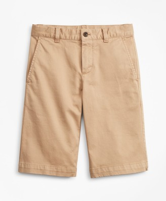 Brooks Brothers Boys Stretch-Cotton Chino Shorts