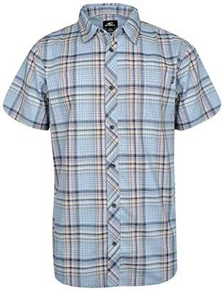 O'Neill Men's Standard Fit Plaid Short Sleeve Stretch Woven Shirt