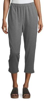 Eileen Fisher Heathered Stretch Jersey Slouchy Cropped Pants