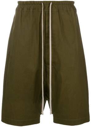 Rick Owens drop-crotch drawstring shorts