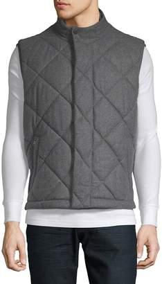 HUGO BOSS Men's Quilted Wool Puffer Vest