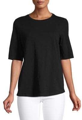 Eileen Fisher Organic Cotton Short-Sleeve Tee