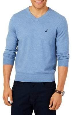 Nautica Jersey V-Neck Sweater