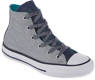 fa8bbbdcd77d Converse Chuck Taylor All Star Shine And Shimmer Girls Sneakers - Little  Kids Big Kids