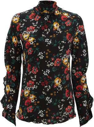 Derek Lam Open Back Floral Blouse