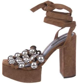 Donna Karan Embellished Wrap-Around Sandals 100% authentic cheap online buy cheap online buy cheap find great free shipping wide range of outlet locations sale online akjW07
