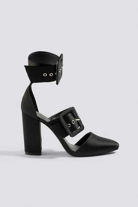 Na Kd Shoes Multi Buckle Block Heels Black