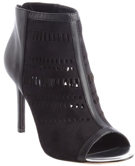 Charles by Charles David black leather and suede open toe cutout 'Imply' booties