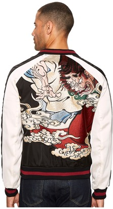 The Kooples - Twin Colour Embroidered Bomber Jacket Men's Coat $495 thestylecure.com