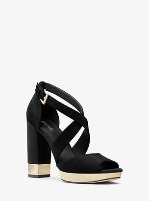 Michael Kors Valerie Suede Platform Sandal