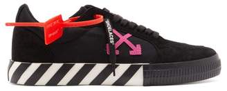 Off-White Off White Canvas And Suede Trainers - Mens - Black Multi
