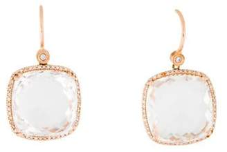 14K Diamond-Accented Quartz Drop Earrings rose 14K Diamond-Accented Quartz Drop Earrings