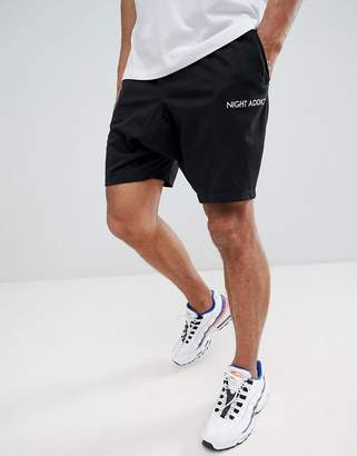 Night Addict Relaxed Drawstring Shorts with Side Panels
