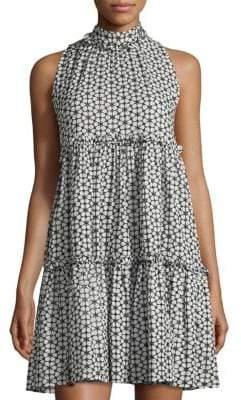 Lisa Marie Fernandez Erica Cotton Ruffled Eyelet Mini Dress