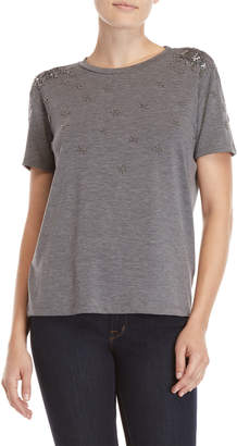 Nanette Lepore Beaded Embellished Tee