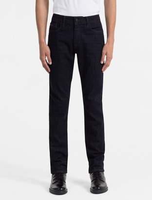 Calvin Klein slim straight dark blue wash jeans