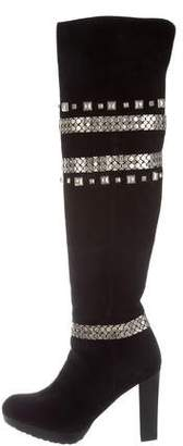 Stuart Weitzman Studded Over-The-Knee Boots