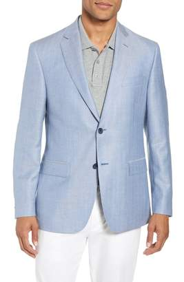 John W. Nordstrom R) Traditional Fit Herringbone Wool & Linen Sport Coat
