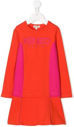 Kenzo logo embroidered dress