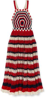 Ulla Johnson Paz Crocheted Cotton Midi Dress - Red