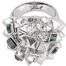 Karl Lagerfeld PARIS Essentials Crystal Pyramid Cluster Ring