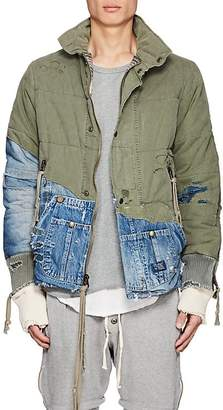 Greg Lauren Men's Denim & Canvas Quilted Jacket