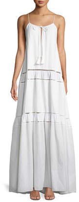 Jonathan Simkhai Scoop-Neck Sleeveless Tonal-Striped Maxi Tank Dress