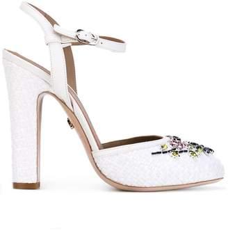 Le Silla crystal flower pumps
