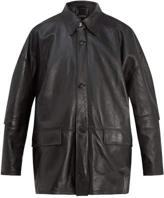 Balenciaga Oversized leather jacket