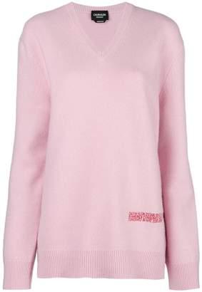 Calvin Klein logo v-neck sweater