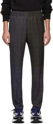 Stella McCartney Blue and Khaki Check Trousers