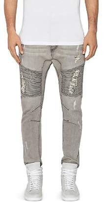 Moto NXP Destroyer New Tapered Fit Jeans in Wolf Gray
