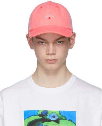 Noah NYC Orange Canvas Six-Panel Cap