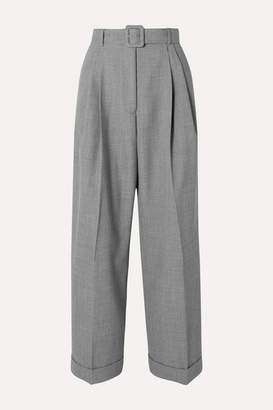 Dries Van Noten Partan Belted Woven Straight-leg Pants - Light gray