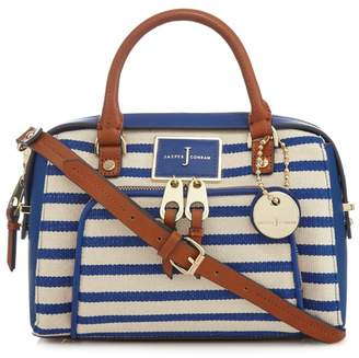 At Debenhams J By Jasper Conran Blue Striped Bowler Bag