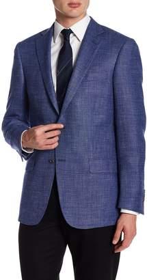 Hart Schaffner Marx Medium Blue Two Button Notch Lapel New York Fit Sport Coat