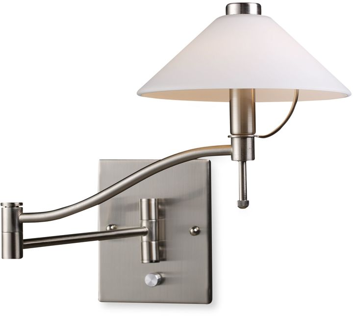 Bed Bath & Beyond ELK Lighting Swingarm 1-Light Sconce in Satin Nickel