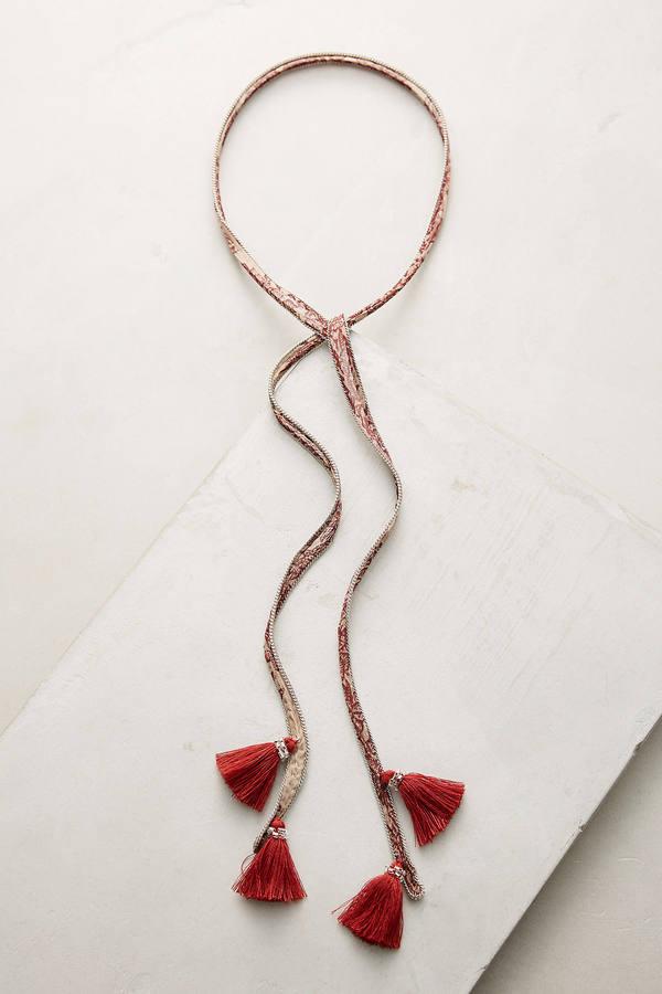 Chan LuuChan Luu Swan Tassel Wrap Necklace