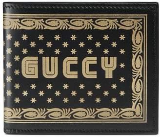 Gucci Guccy print leather bi-fold wallet