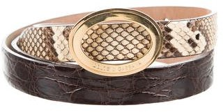 Dolce & GabbanaDolce & Gabbana Crocodile & Snakeskin Belt