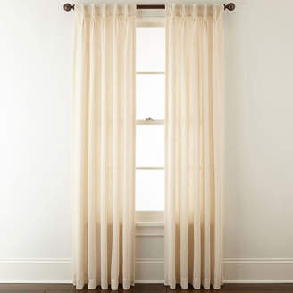 JCPenney JCP HOME HomeTM Bayview Pinch-Pleat/Back-Tab Semi-Sheer Curtain Panel