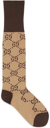 Interlocking G cotton socks $95 thestylecure.com