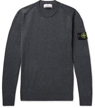 Stone Island Logo-Appliqued Cotton Sweater