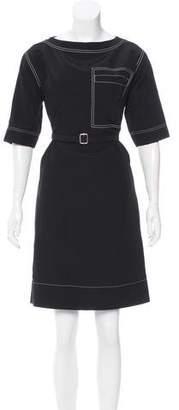 Celine Belted Knee-Length Dress w/ Tags