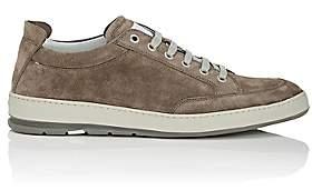Heschung Men's Travel Suede Sneakers-Light Gray