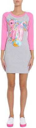 Moschino Little Pony Printed Jersey Dress