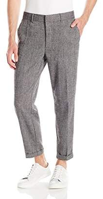GUESS Men's Laurel Tweed Taper Crop Pant